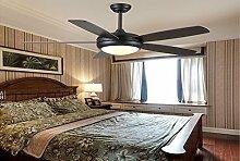 sdkky American Style Deckenventilator, Retro Fan Lampe, Nordic Wohnzimmer Restaurant Ventilator Lampe, Industrie Fan Anhänger Lampe 42 inches remote control