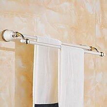 SDKKY Antike Garten Doppel Stab, Handtuchhalter Anhänger, kontinentales Chrom accessoires badezimmer Handtuchhalter
