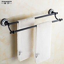 SDKKY Antike Kupfer Aluminium Handtuchhalter nicht-Raum einpoliger Verlängerung accessoires badezimmer das Badezimmer Handtuchhalter 620*160mm