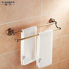 SDKKY Antike Kupfer Handtuchhalter Handtuchhalter Handtuchhalter mit Continental lange bad accessoires badezimmer 630*130mm
