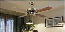 SDKKY antike lampe kein ventilator retro - blatt blatt europäischen lampe, vier hochwertigen fan - kronleuchter lampe
