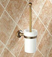 SDKKY-Antike WC Bürste Halter Antik WC Bürste Set Bad Bad-Accessoires