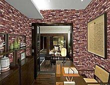 SDKKY Antike Ziegel storefront Restaurant chinesisch Restaurant retro Kultur shop Wohnzimmer TV Hintergrund Tapete, 3, 0,53 m * 10 m Dekorative Wandpapier