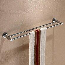 SDKKY Bad-accessoires Handtuchhalter doppel Handtuchhalter Handtuchhalter aus Bronze