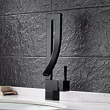SDKKY Bad Armatur, Kupfer bad Armatur, Waschtisch Konzept, modische Wasserhahn, heiße und kalte Einloch Mischbatterie