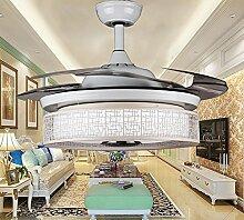 SDKKY bluetooth sound, unsichtbare fan lampe, musik, 42 - zoll - ventilator, esszimmer, wohnzimmer, schlafzimmer mit der lampe, deckenventilator, 42 cm,weiße fernbedienung