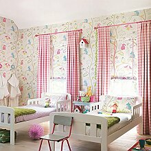 SDKKY Britische Kinderzimmer Tapete cartoon Eule Prinzessin Zimmer Schlafzimmer den Vlies Tapete, 1. Dekorative Wandpapier