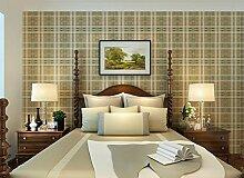 SDKKY Britische Plaid Vlies Tapete amerikanischen Dorf Kinder Schlafzimmer Wohnzimmer Studie Schottland Tapeten, 4 Dekorative Wandpapier