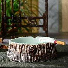 SDKKY Classic Home Dekoration Dekoration Ideen wie Baum Holz Keramik Aschenbecher