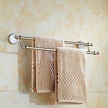 SDKKY Continental silber Handtuchhalter Handtuchhalter gold bad accessoires badezimmer Zubehör der Europäischen vergoldete Handtuchhalter 665*90*150mm , Gold