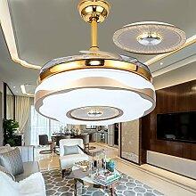 sdkky Deckenventilator, Fan Lampe, Wohnzimmer