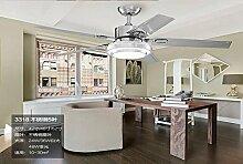 SDKKY deckenventilator, modernes licht -, edelstahl - fan lampe, restaurant, salon, fernbedienung haushalts - fan, deckenleuchte, decke ventilator,stahl - wand - kontrolle