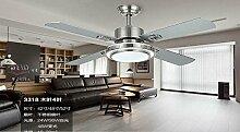 SDKKY deckenventilator, modernes licht -, edelstahl - fan lampe, restaurant, salon, fernbedienung haushalts - fan, deckenleuchte, decke ventilator,blatt wand kontrolle