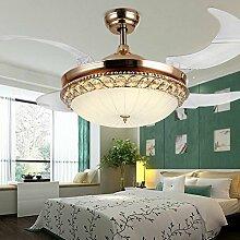 SDKKY Drei farbdimmungstechnik Ventilator Lampe, europäischen Stil Mode unsichtbare Ventilator Lampe, 42 * 108 CM