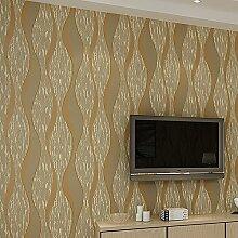 SDKKY Einfache und moderne Vliesstoff Stereoanlage Schlafzimmer TV Hintergrund Wand streifen Tapete, Braun, 0,53 m * 10 m Dekorative Wandpapier