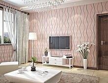 SDKKY Einfache wellenförmige Kurve Wellenmuster, modernes Sofa wallpaper TV Hintergrund Wand Vlies streifen Tapete, 3, 53 * 1000 cm Dekorative Wandpapier