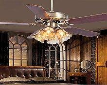 SDKKY europäische antike deckenventilator lichter, restaurant - fan lichter, einfache wohn - und schlafzimmer kronleuchter mit einem ventilator,eine wand kontrolle