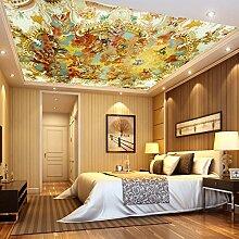 SDKKY Europäische Retro nahtlose mothproof antibakterielle Vlies Tapete Decke Decke Preis pro Quadratmeter, Bild Farbe Dekorative Wandpapier