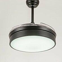 SDKKY fan - lampe, restaurant, deckenventilator, wohnzimmer, ventilator, lampe, led, deckenleuchte, unsichtbar, deckenventilator, beleuchtung - lampe,gold - fernbedienung