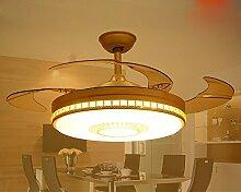SDKKY fan - lampe, restaurant, deckenventilator, wohnzimmer, ventilator, lampe, led - deckenleuchte, unsichtbar, deckenventilator, dekorative leuchten