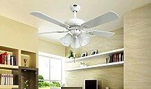 SDKKY fan - licht, 42 - zoll - 3 - lampe, deckenventilator, weiße fan, deckenventilator, esszimmer, wohnzimmer, schlafzimmer, ventilator, deckenleuchte