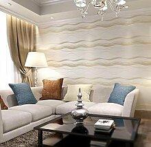 SDKKY Feuchte antibakterielle nicht-modernen, minimalistischen Schlafzimmer streifen Tapete, 1 gewebt, 0,53 m * 10 m Dekorative Wandpapier