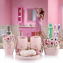 SDKKY fünf stück bad bad produkte harz, hochzeit, dekoration, kreative zahnbürste europäischen tresor,drei
