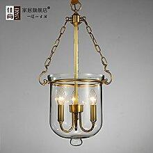 SDKKY Glas, Kupfer, Vintage Kronleuchtern, 3 Leiter