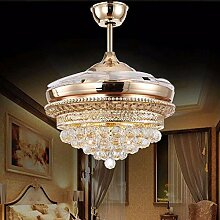 SDKKY Golden Crystal Ventilator Lampe,