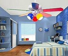 SDKKY kinderzimmer - fan lampe, deckenventilator, restaurant - farbe, esszimmer, schlafzimmer mit led - decke ventilator, fan - 42 - zoll -,ziehen sie leine