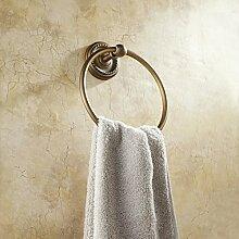 SDKKY Kupfer antik Vintage continental Badezimmer Handtuchhalter hardware Handtuchring Bettwäsche Sanitär Bad Metall Anhänger 185mm , C