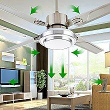 sdkky LED Edelstahl Deckenventilator, einfache