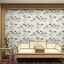 SDKKY Moderne chinesische Wohnzimmer fernsehen Kran Tapete im Hintergrund der klassischen chinesischen Stil altes Schlafzimmer Tapete, 1. Dekorative Wandpapier