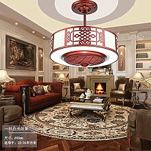 SDKKY moderne led - unsichtbar, deckenventilator, negative ionen - fan lampe, wohnzimmer, esszimmer, schlafzimmer, retro - lampe, decke ventilator,rotwein