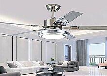 SDKKY moderne, minimalistische fan lampe, kronleuchter lampe room restaurant fan - fan zu hause führte, blatt lampe, decke ventilator,b - fernbedienung