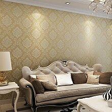 SDKKY Nonwoven continental Damaskus high-end Schlafzimmer Wohnzimmer TV Hintergrund Tapete, Farbe, 53 * 1000 Dekorative Wandpapier