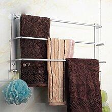 SDKKY Platz drei Aluminium Handtuch bar Bad Handtuch Regal Bad Regal Metall Anhänger , 50 long