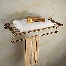 SDKKY Platz in gebürstetem Aluminium mit antiken Accessoires Badezimmer Handtuchhalter.