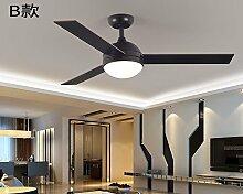sdkky Retro Fan Licht, einfache moderne Ventilator Lampe, Wohnzimmer Restaurant, Deckenventilator, industrieller American Fernbedienung Anhänger Lampe B wall control