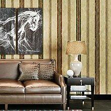 SDKKY Retro Tapeten böhmischen Schlafzimmer Wohnzimmer TV Hintergrund Südostasiens rein Papier streifen Tapete, Streifen Dekorative Wandpapier
