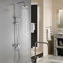 SDKKY-Sanitär- und sauber, raffinierte Kupfer Bad-Dusche-Suite, drei Funktionen Dusche, automatische einstellbare Brausese