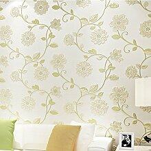 SDKKY Schlafzimmer minimalistischen modernen Vliesstoff antimikrobielle Feuchtigkeit - Statische motte Tapete, beige, 0,53 m * 10 m Dekorative Wandpapier