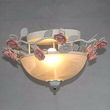 SDKKY schmiedeeiserne glas anhänger lampe, led - lampe - anhänger, kronleuchter, glas - anhänger lampe,b
