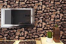 SDKKY Simulierte Stein Muster retro Restaurant hot pot Inn Wohnzimmer TV Hintergrund Tapete, 2, 0,53 m * 10 m Dekorative Wandpapier