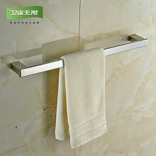 SDKKY Spiegel Edelstahl Handtuchhalter accessoires badezimmer Handtuchhalter Handtuchhalter bar 605*70*30mm