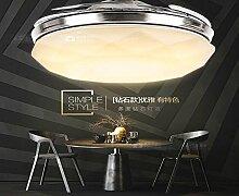 SDKKY unsichtbar, deckenventilator, fan - lampe, wohnzimmer, esszimmer, schlafzimmer, nach hause, modernen minimalistischen led lampe ventilator - anhänger,Diamond remote control