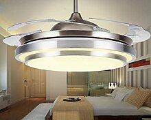 SDKKY unsichtbar, deckenventilator, mode, kurze, restaurant - anhänger lampe, schlafzimmer - fan licht, führte, der ventilator, lampe - fan,ein