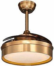 SDKKY Unsichtbare Decke Ventilator, Ventilator Lampe, Wohnzimmer, Esszimmer, Schlafzimmer, Home, einfach, modern, LED Lüfter, Stummschaltung Pendelleuchte