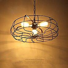 SDKKY Ventilator Kronleuchter 3 Leuchten