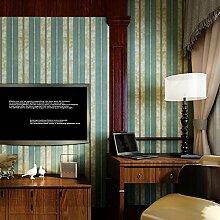 SDKKY Vintage American Vlies Tapete grosse Blumen luxuriöse Schlafzimmer Nachttisch Konsole Wandhalterung vertikale Streifen Tapete, Streifen Dekorative Wandpapier